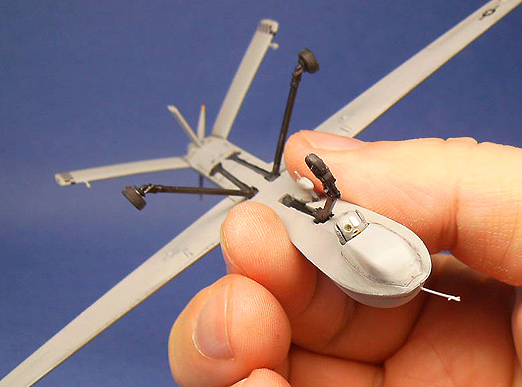 I Used Bits Of A Transparent Pearlized Sequin To Simulate The Daylight And Infra Red TV Cameras Italeri UAV Preditor